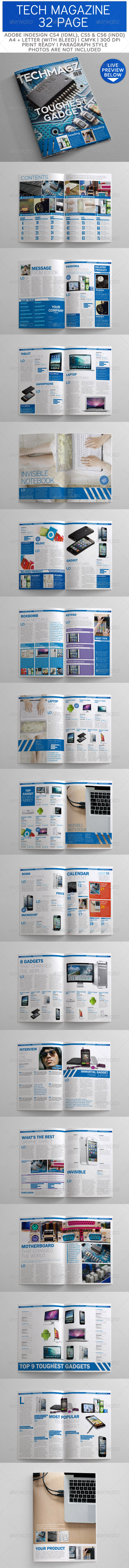 GraphicRiver Tech Magazine Template 32 Page 3326299