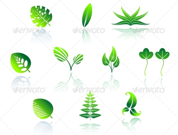 GraphicRiver Set of Leaf Icons 3715198