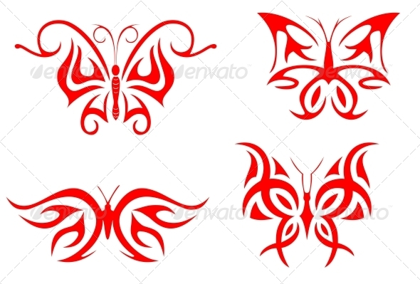 Butterfly Tattoos - Tattoos Vectors