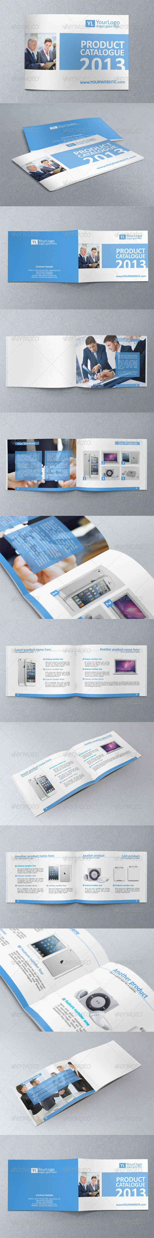 GraphicRiver Multipurpose A5 Business Brochure Catalogue Templa 3715220
