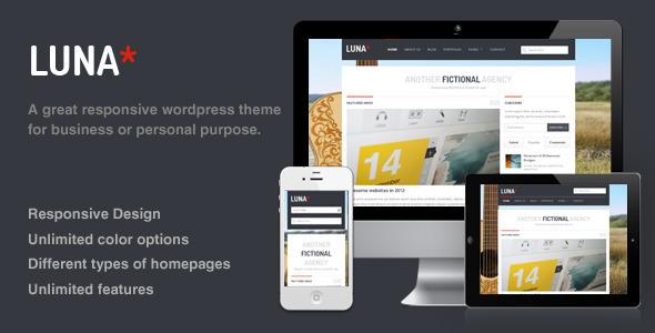 ThemeForest Luna Responsive Wordpress Theme 2395168