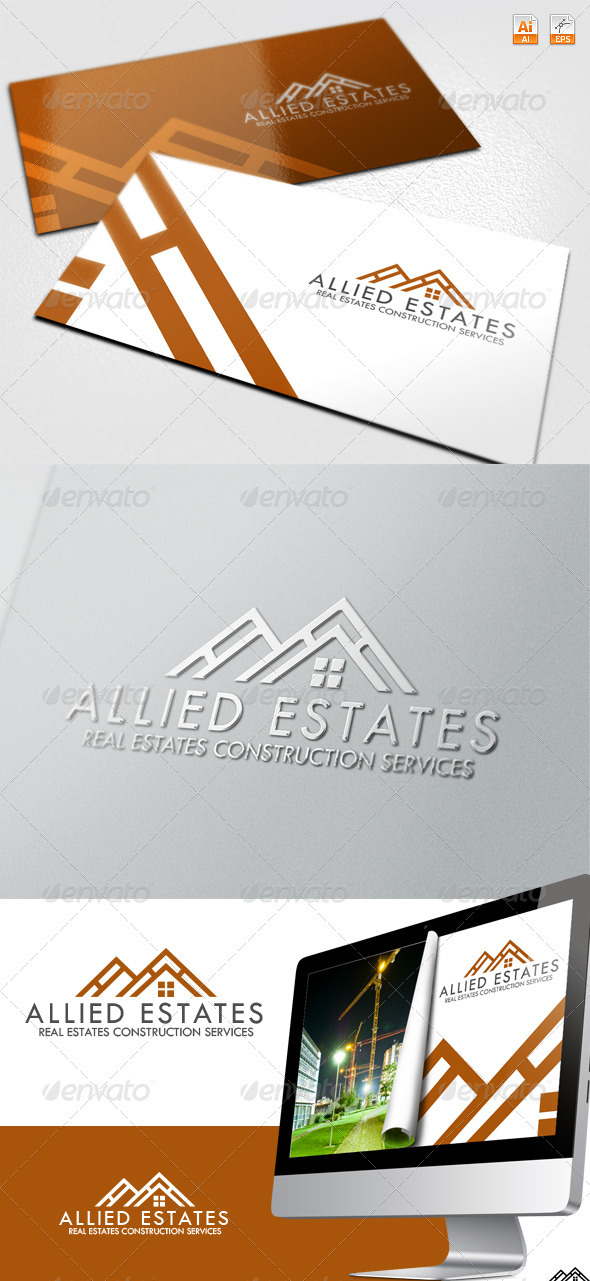 GraphicRiver Allied Estates Real Estate Construction Logo 3660312