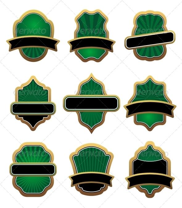 GraphicRiver Set of Heraldic Symbols 3715310