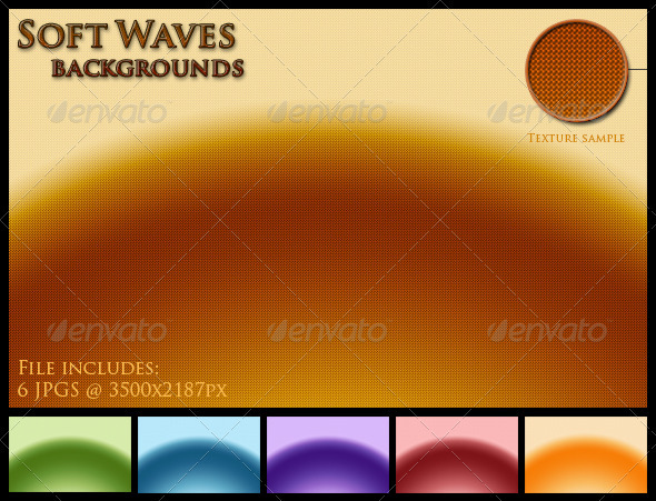GraphicRiver Soft Waves Backgrounds 3715831