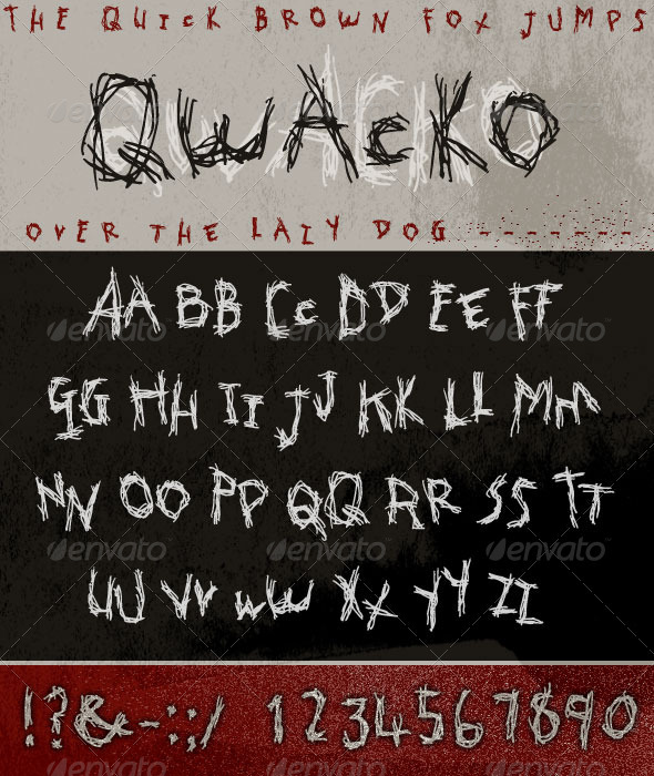GraphicRiver Qwacko Font; Hand-drawn Graffiti Type 3715855