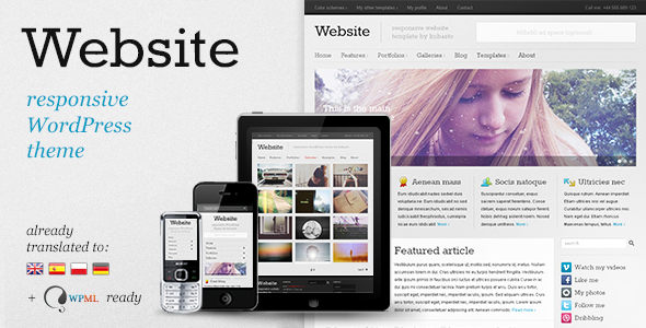 ThemeForest Website responsive WordPress theme 1739143