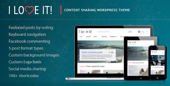 ThemeForest I Love It Content Sharing WordPress Theme 698475