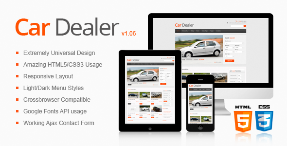 ThemeForest Car Dealer Responsive HTML5 CSS3 Template 2865461
