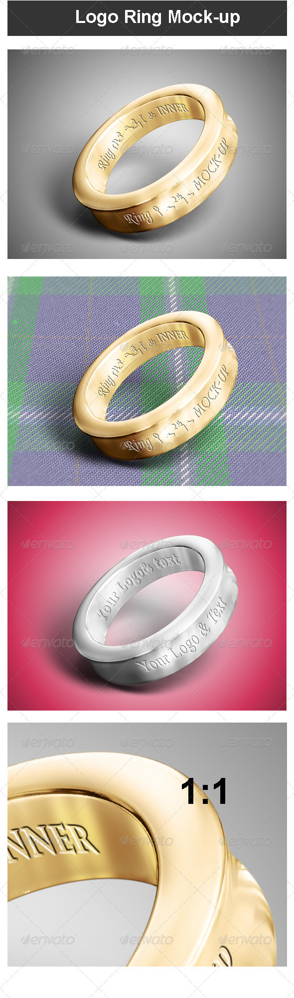 GraphicRiver Logo Ring Mock-up 3696868
