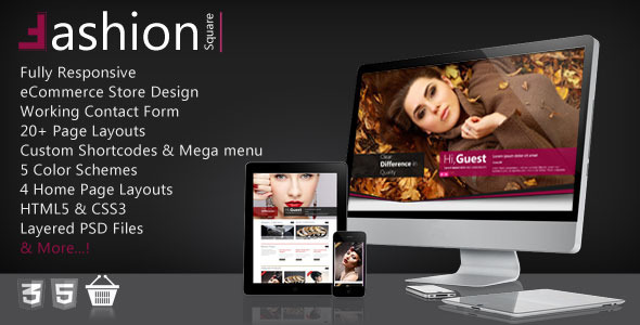 ThemeForest Fashion Shop Responsive Ecommerce HTML5 Theme 3628732