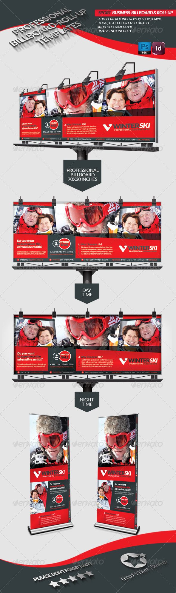 GraphicRiver Sport Business Billboard Roll-Up 3716153