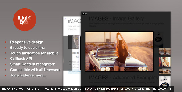 CodeCanyon iLightBox Revolutionary Lightbox Plugin 3716175