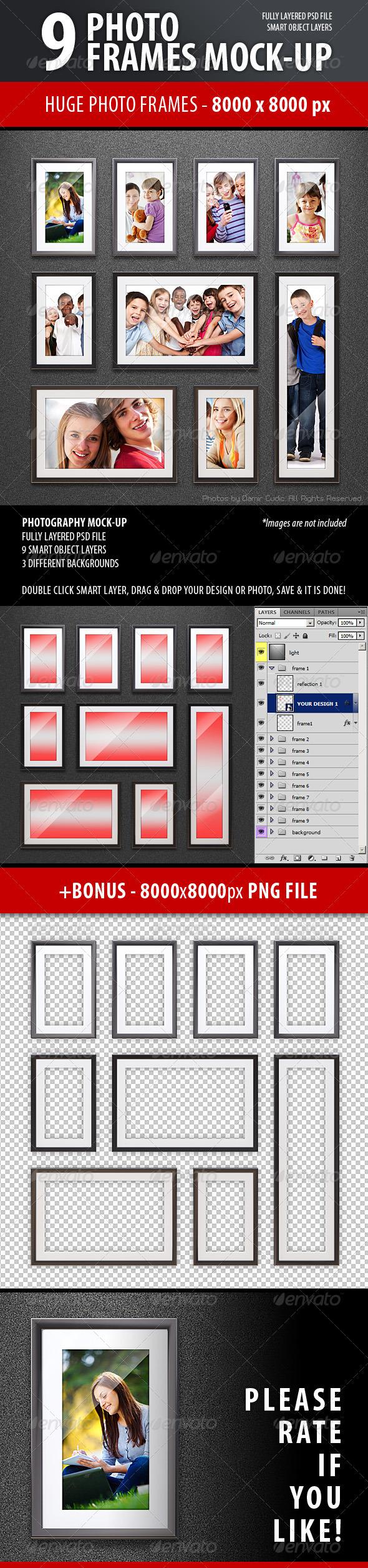 GraphicRiver Photo Frames Mock-up 3716180