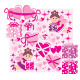 Scrapbook Elements with Hearts and Fairies - GraphicRiver Item for Sale