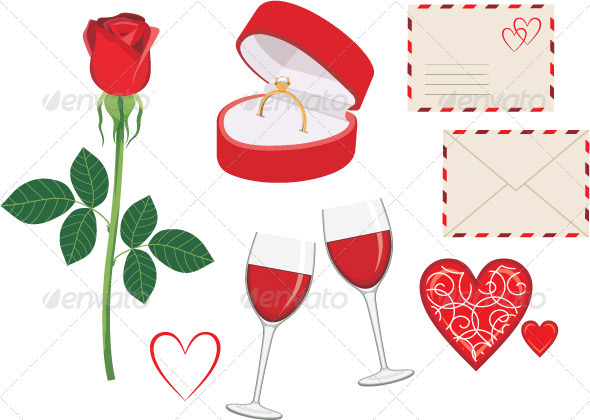 GraphicRiver Valentine Day Icon Set 3716269