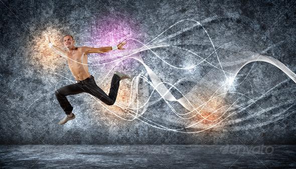 PhotoDune Modern style dancer posing 3717435