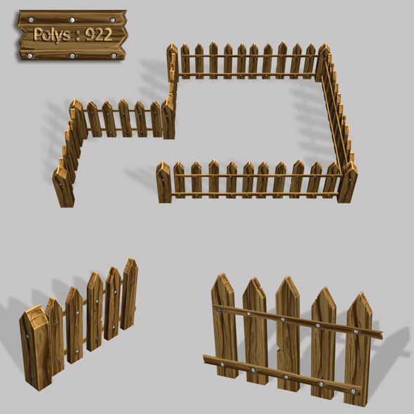 wooden fence  - 3DOcean Item for Sale