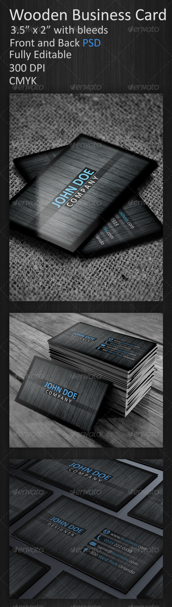 GraphicRiver Wooden Business Card 3716672