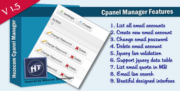 Cpanel Email Manager - CodeCanyon Item for Sale