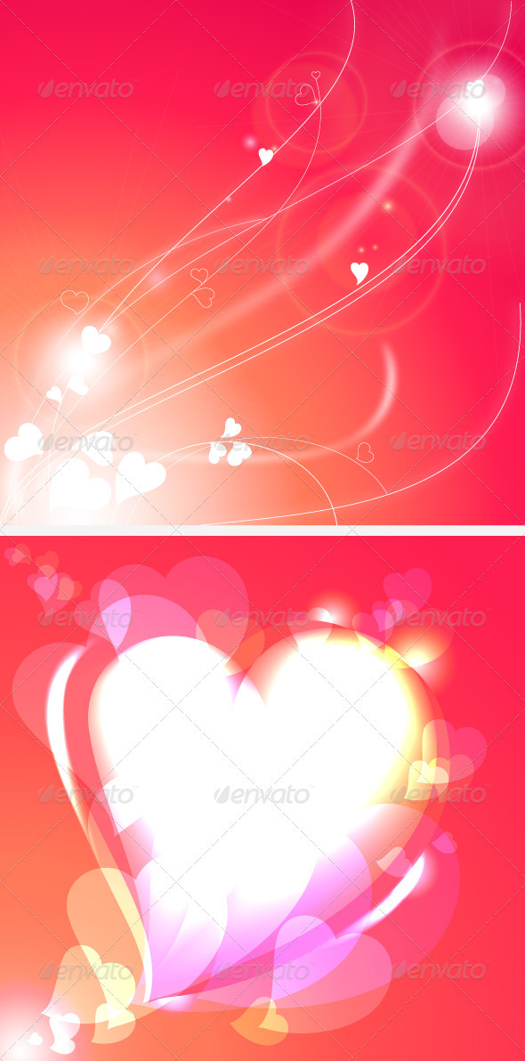 GraphicRiver Background with Abstract Hearts 3716762