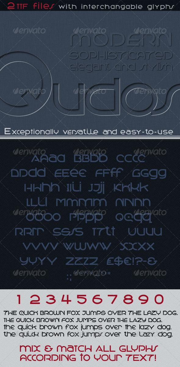 GraphicRiver Qudos Clean & Modern Avant Garde Type 3670927