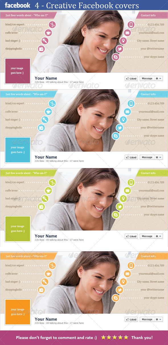 GraphicRiver Just One FB Cover Template 3716864
