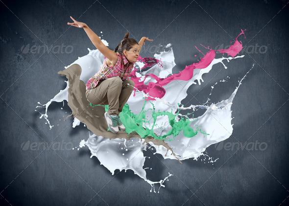 PhotoDune Modern style dancer 3717428