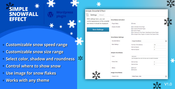 CodeCanyon Simple Snowfall Effect 3716996