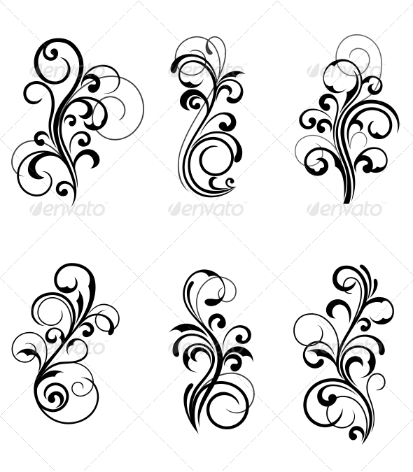 Simple Swirls And Twirls Floral patterns - flourishes / swirls ...
