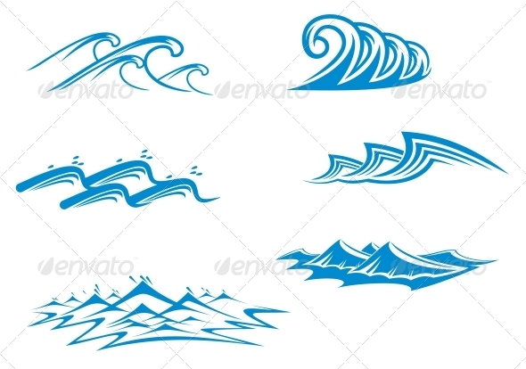 GraphicRiver Set of Wave Symbols 3717219