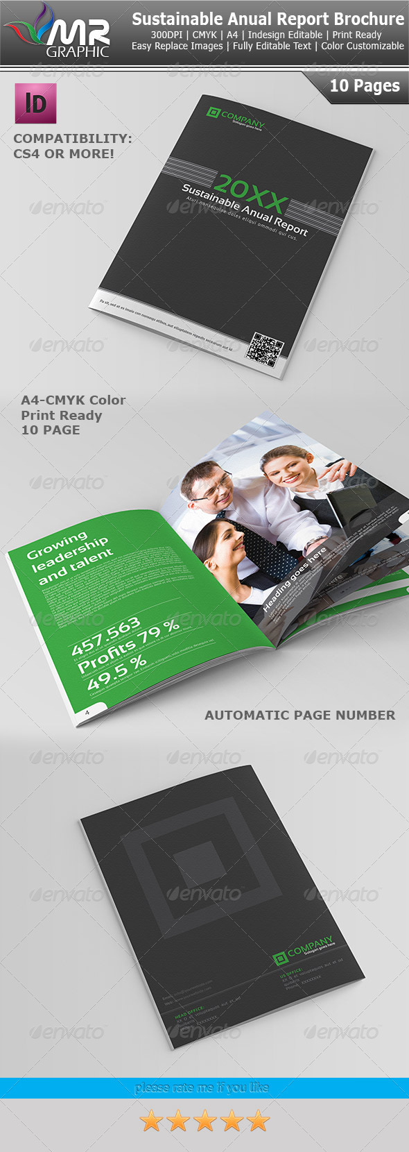 GraphicRiver Sustainable Anual Report Template 3717312