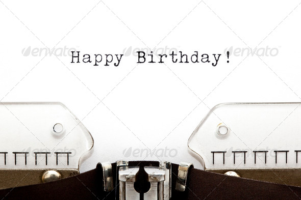Typewriter Happy Birthday - Stock Photo - Images