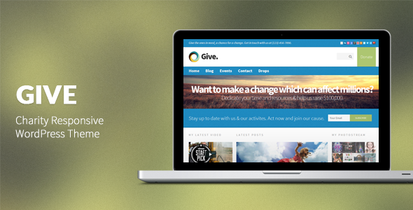 Give: Charity Responsive WordPress Theme