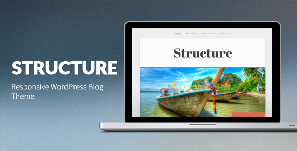 Structure: Responsive WordPress Blog Theme