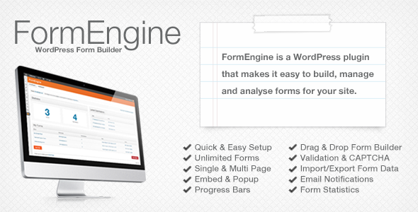 FormEngine - WordPress Contact Form Wizard - WorldWideScripts.net Item for Sale