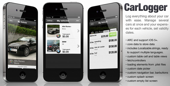 CodeCanyon Vehicle Logger app 3699142