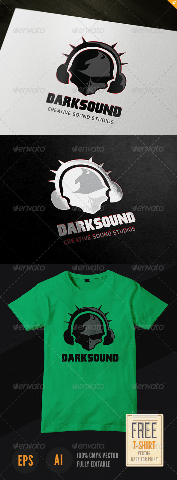 GraphicRiver Dark Sound Logo 3668353