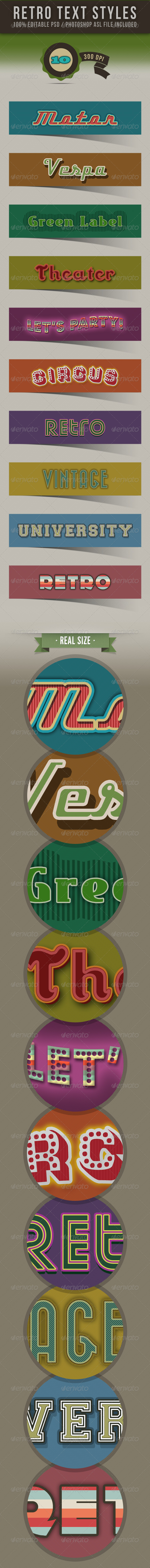 GraphicRiver Retro Text Styles 3718172