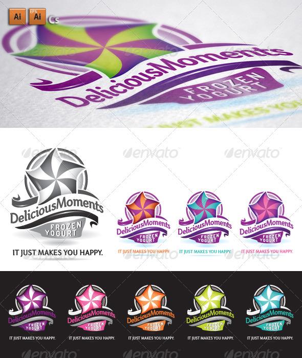 GraphicRiver Delicious Frozen Yogurt Logo 3490524