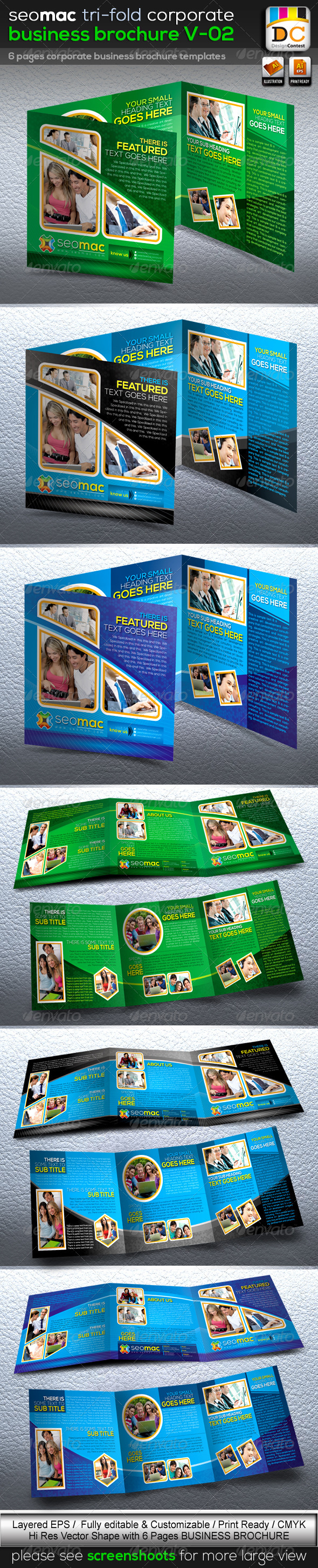 GraphicRiver SeoMac Tri-fold Corporate Business Brochure V-02 3719081