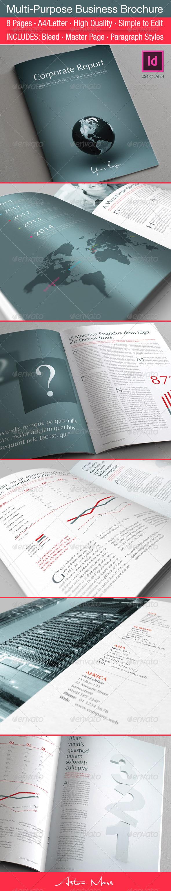 GraphicRiver Multi-Purpose Business Brochure 3719118
