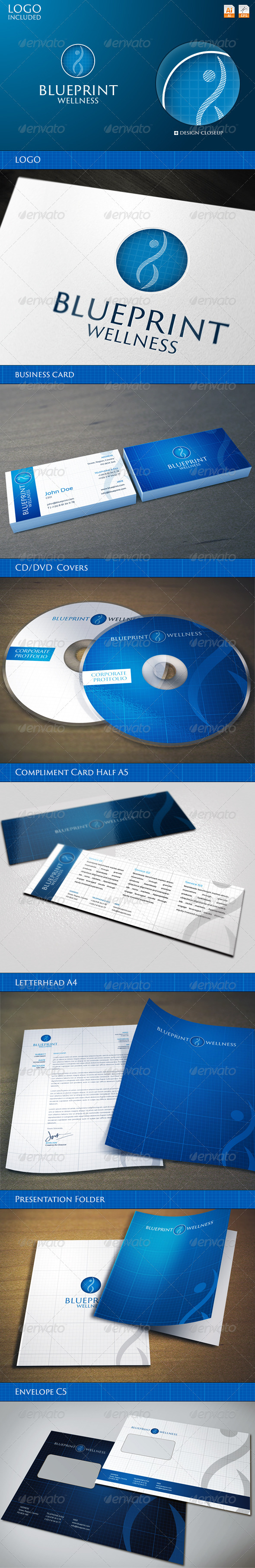 Corporate Identity BluePrint Wellness
