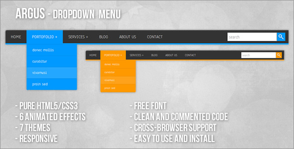 CodeCanyon Argus Dropdown Menu 3719263
