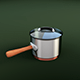 Realistic Metal Sauce Pan - 3DOcean Item for Sale