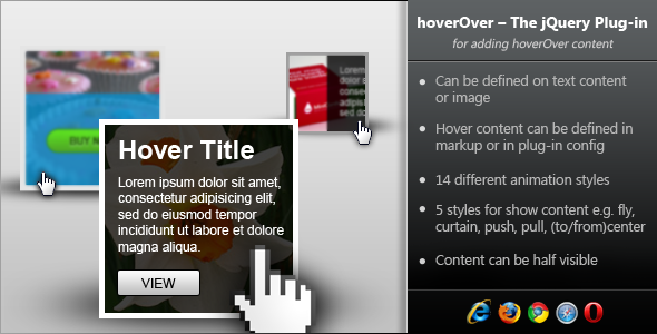 CodeCanyon hoverOver jQuery Plugin for Adding Hover Content 3719429