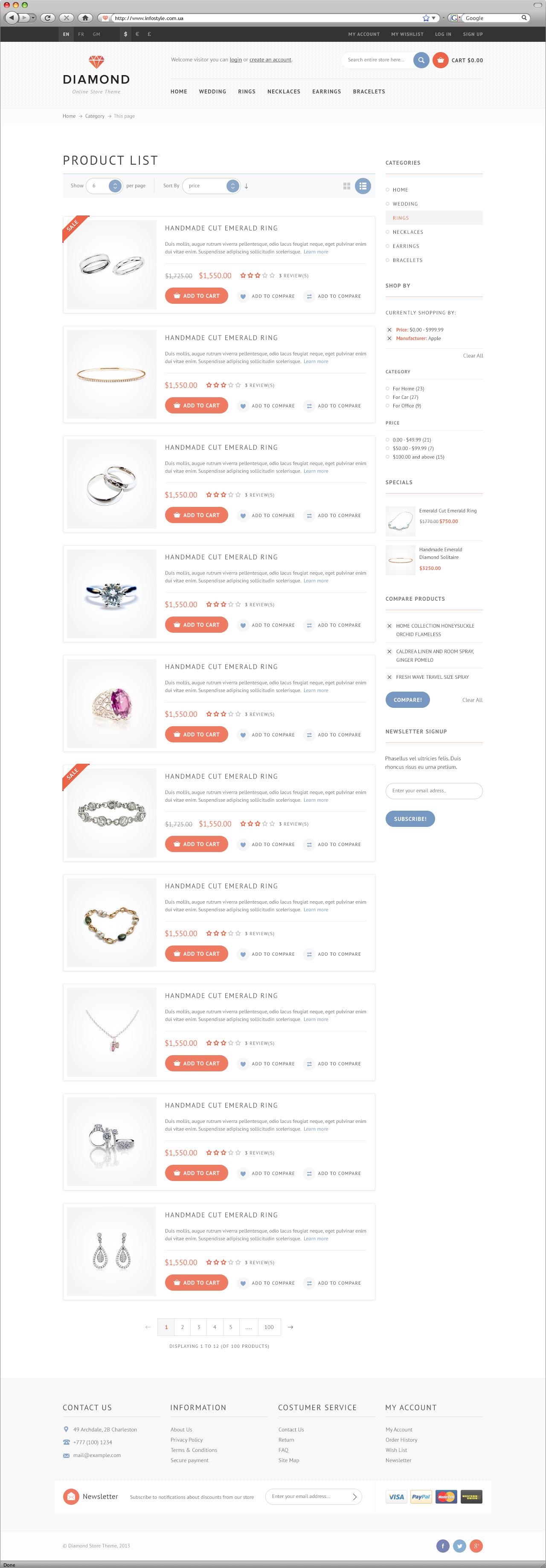 Diamond — premium e-commerce template