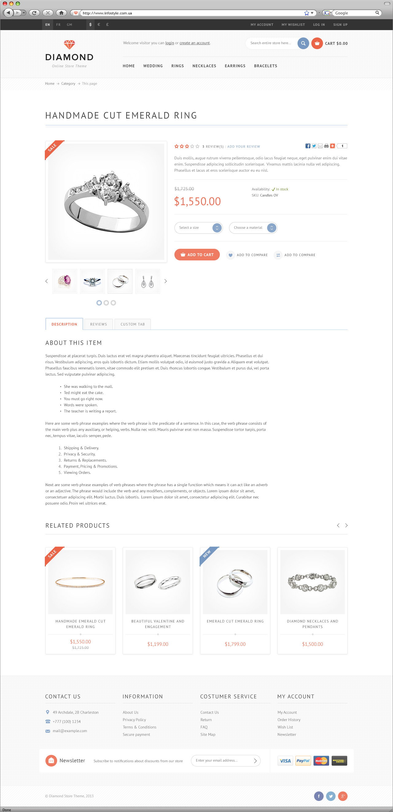 Diamond — premium e-commerce template
