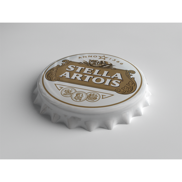 3DOcean Stella Artois Bottle Tin Cap 3719806