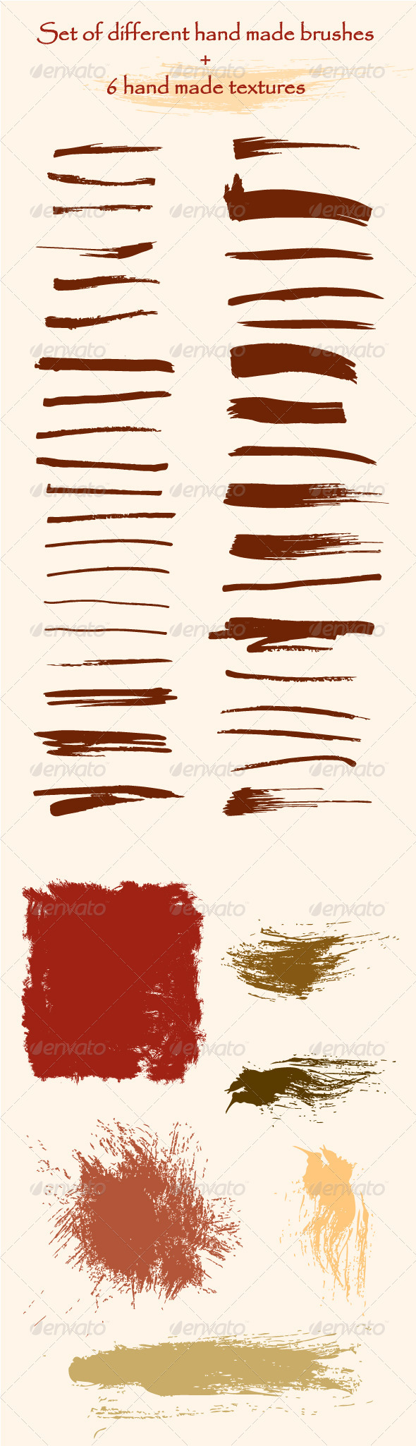 GraphicRiver Set of Hand Made Brushes and Textures 3719826