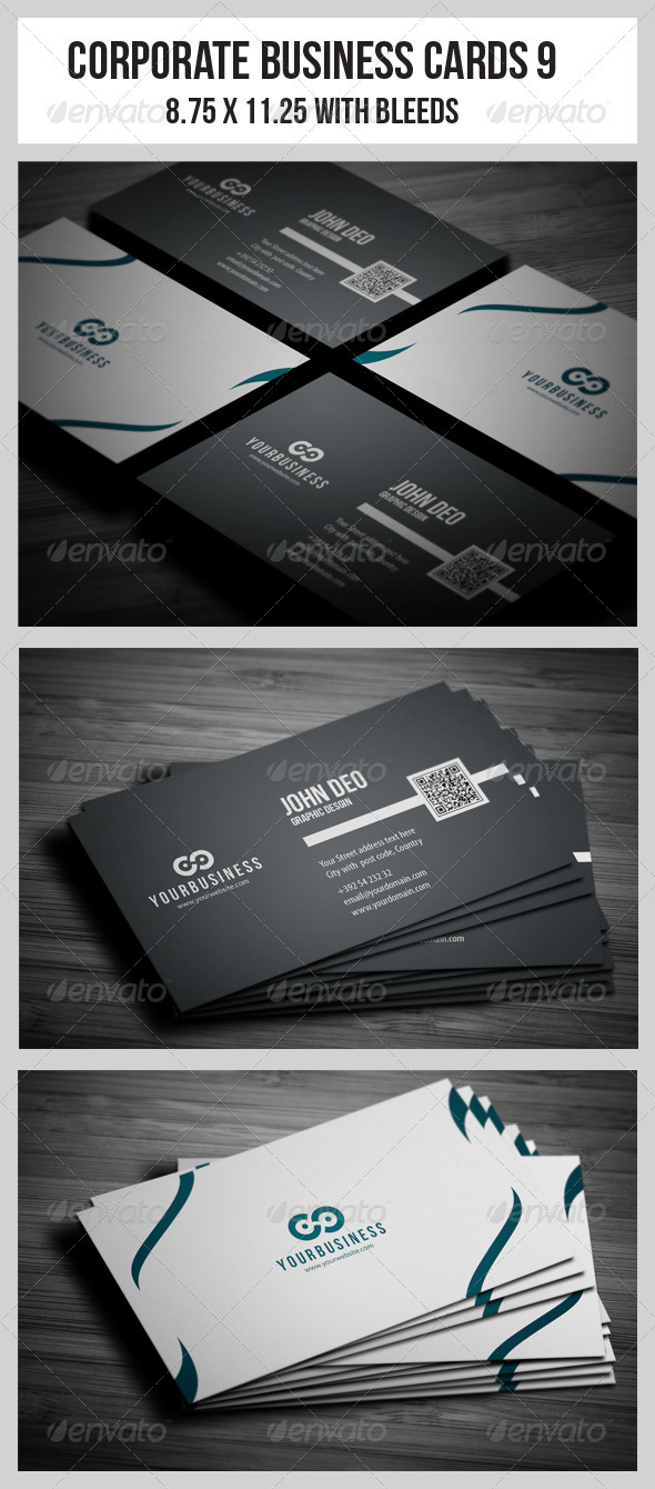 GraphicRiver Corporate Business Cards 9 3719879